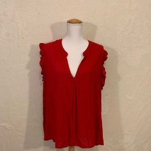 Universal Tread Flutter Sleeves Top Size 1X NWT